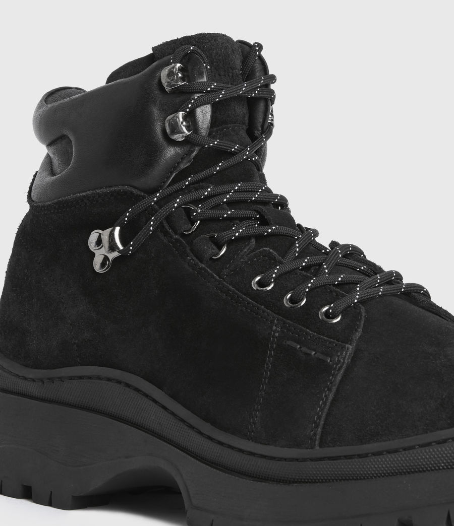Mens Donte Suede Boots (black) - Image 2