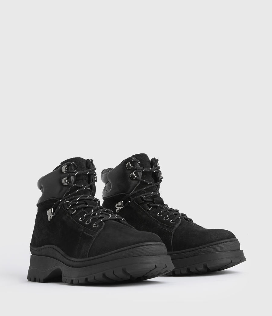 Mens Donte Suede Boots (black) - Image 3