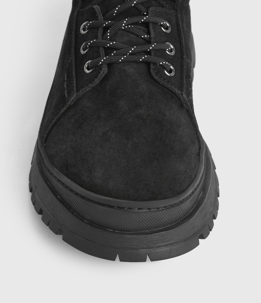Mens Donte Suede Boots (black) - Image 4