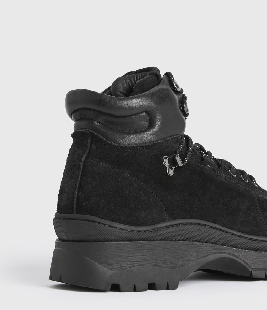 Mens Donte Suede Boots (black) - Image 5