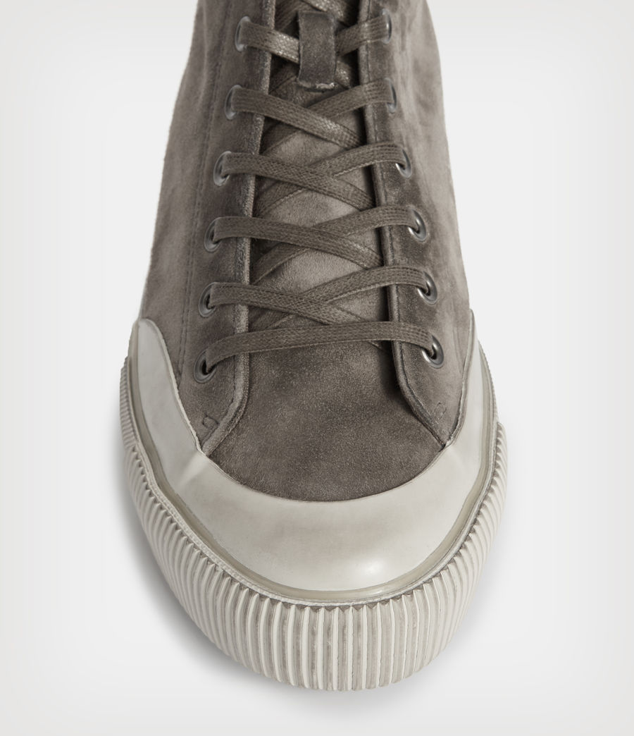 Men's Dumont High Top Suede Trainers (slate_grey) - Image 2