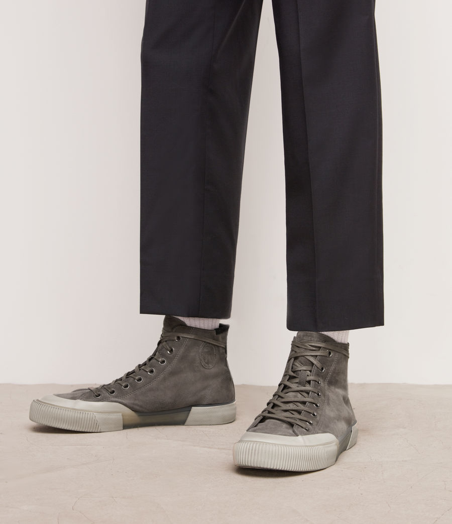 Men's Dumont High Top Suede Trainers (slate_grey) - Image 3