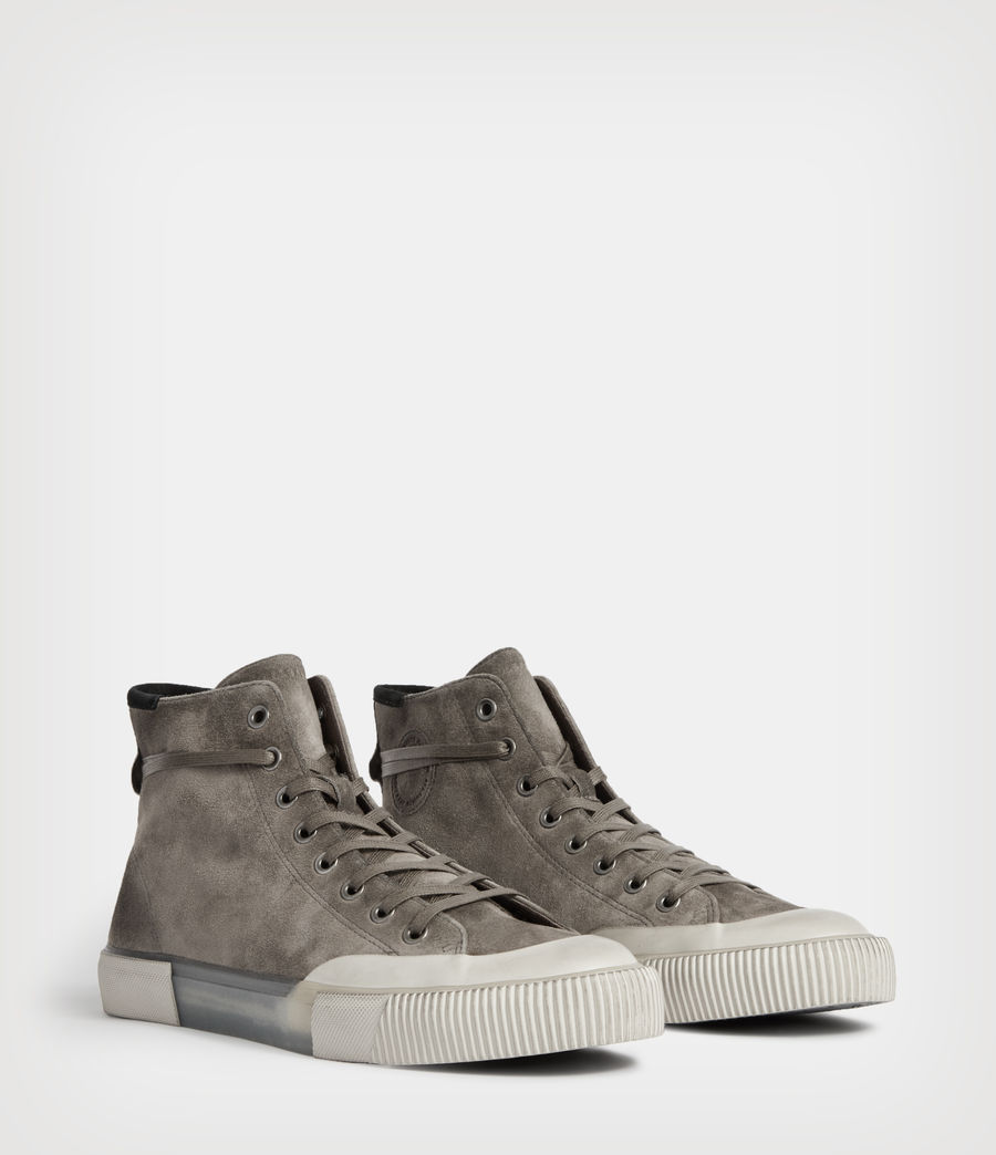 Men's Dumont High Top Suede Trainers (slate_grey) - Image 5