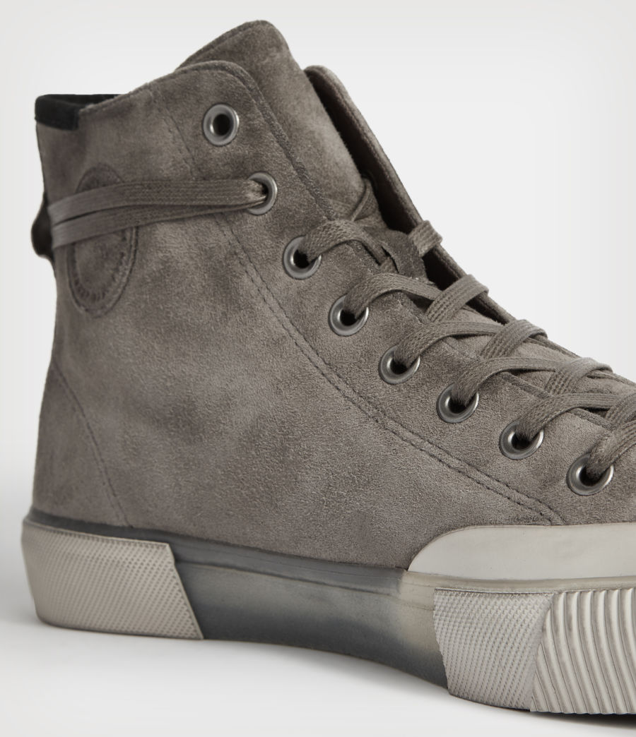 Men's Dumont High Top Suede Trainers (slate_grey) - Image 6