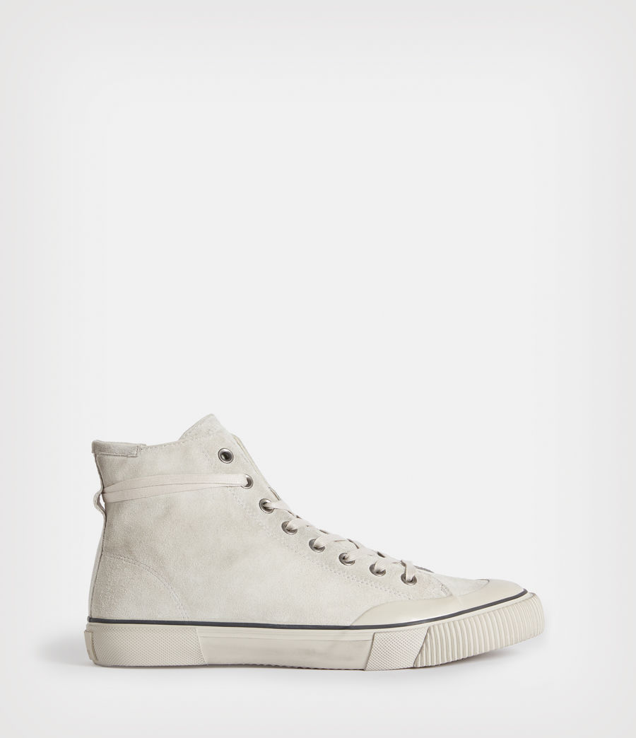 Mens Dumont High Top Suede Sneakers (chalk_white) - Image 1