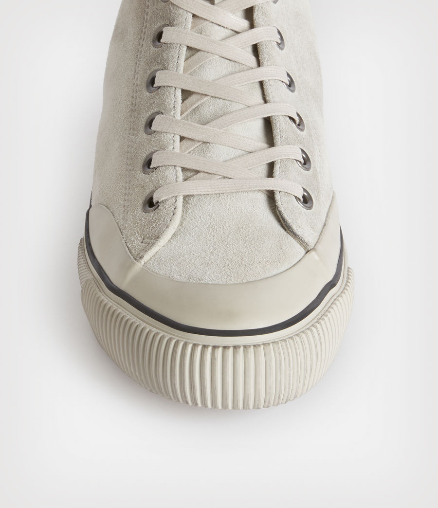 Mens Dumont High Top Suede Sneakers (chalk_white) - Image 2
