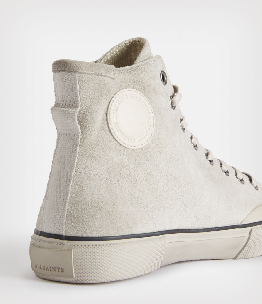 Mens Dumont High Top Suede Sneakers (chalk_white) - Image 4