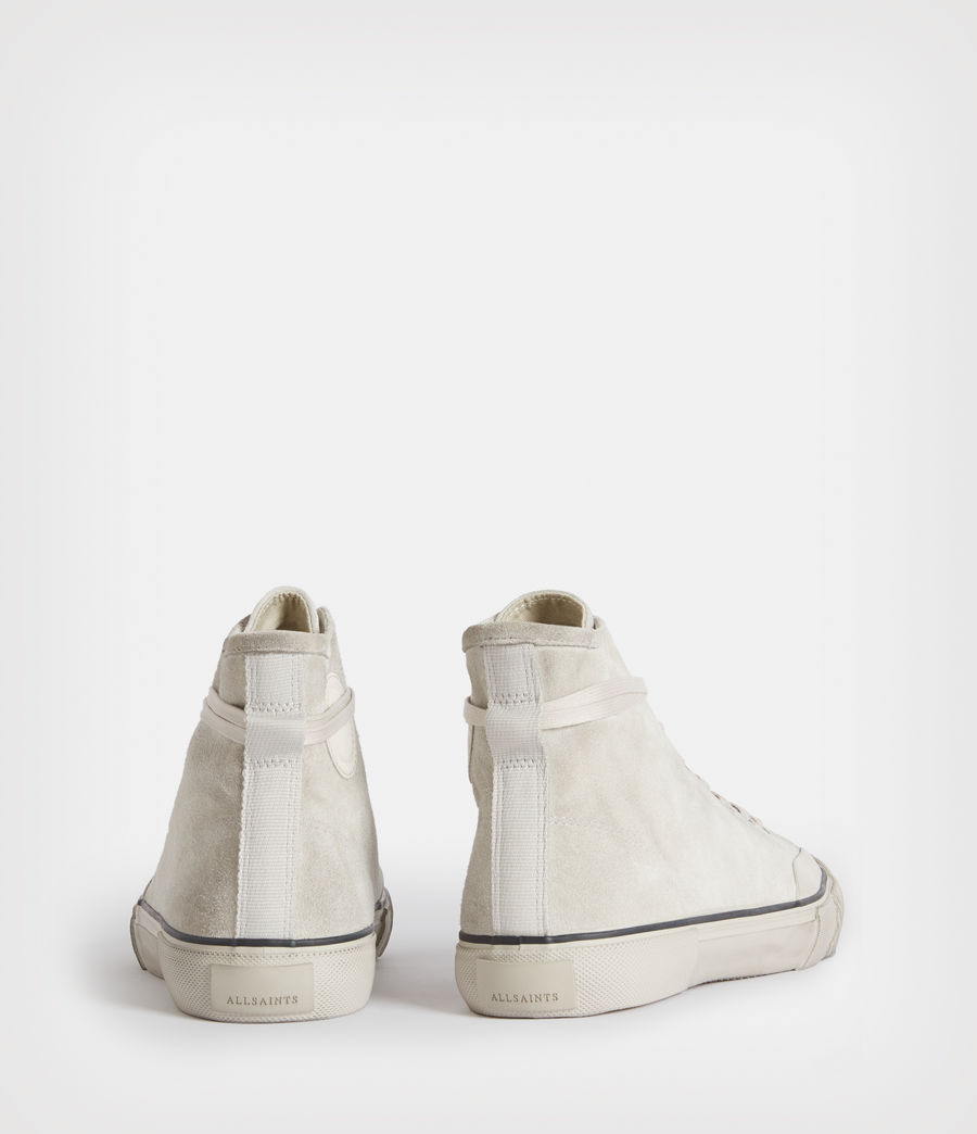 Mens Dumont High Top Suede Sneakers (chalk_white) - Image 5