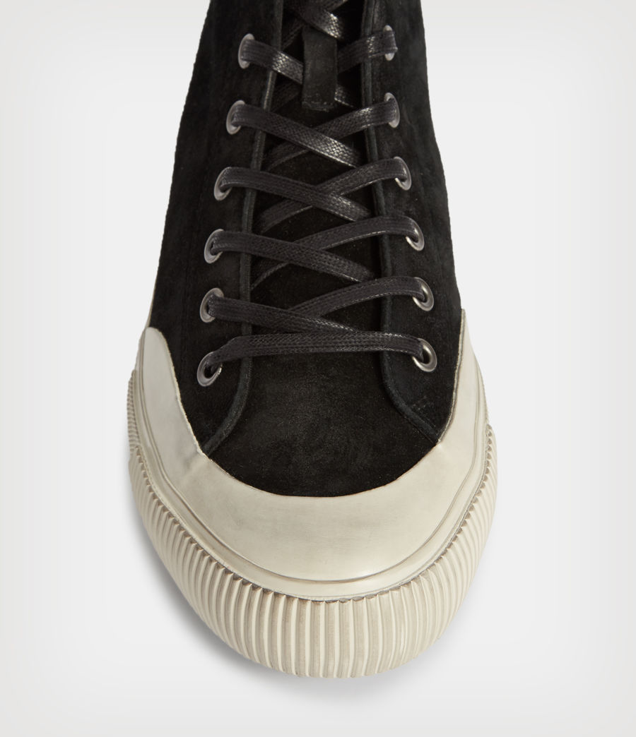 Hombres Dumont High Top Suede Trainers (black) - Image 2