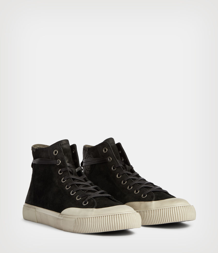 Men's Dumont High Top Suede Trainers (chalk_white) - Image 3