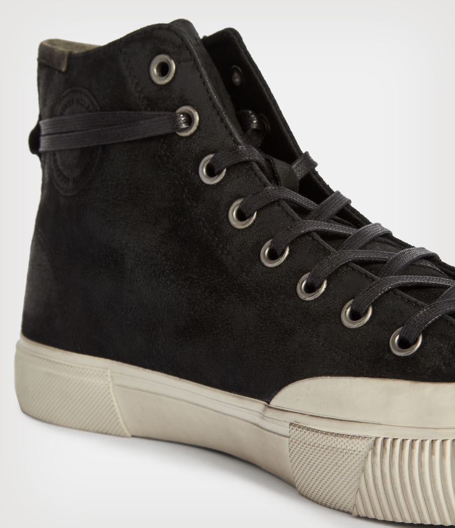 Men's Dumont High Top Suede Trainers (chalk_white) - Image 4
