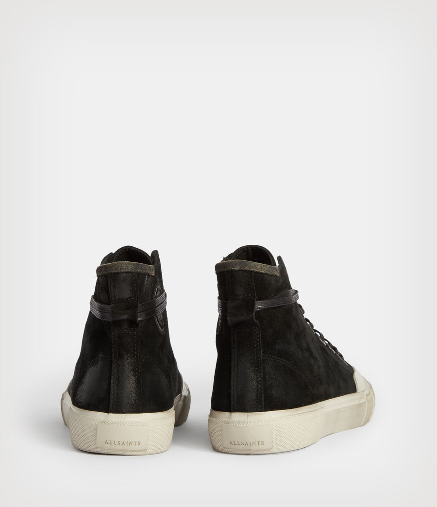Hombres Dumont High Top Suede Trainers (black) - Image 6