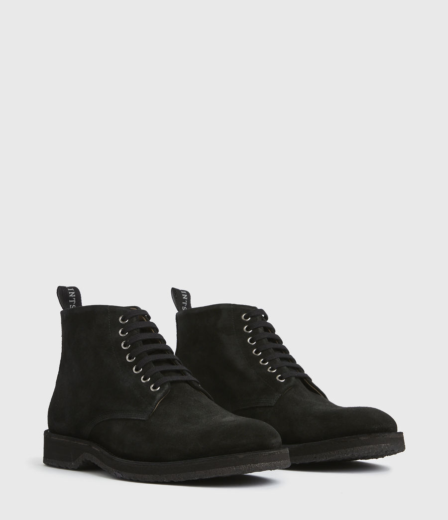 Men's Mathias Suede Boots (black) - Image 4