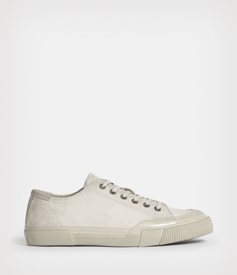 Mens Dumont Low Top Suede Sneakers (chalk_white) - Image 1