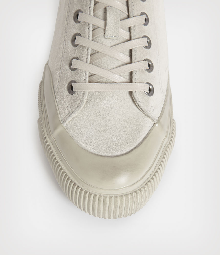 Mens Dumont Low Top Suede Sneakers (chalk_white) - Image 2