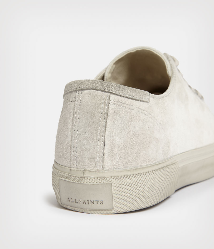 Mens Dumont Low Top Suede Sneakers (chalk_white) - Image 3