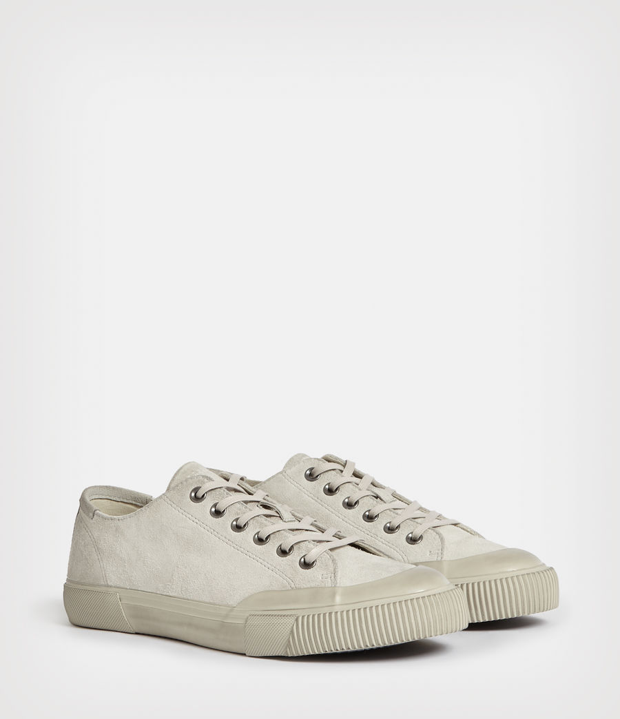 Mens Dumont Low Top Suede Sneakers (chalk_white) - Image 4