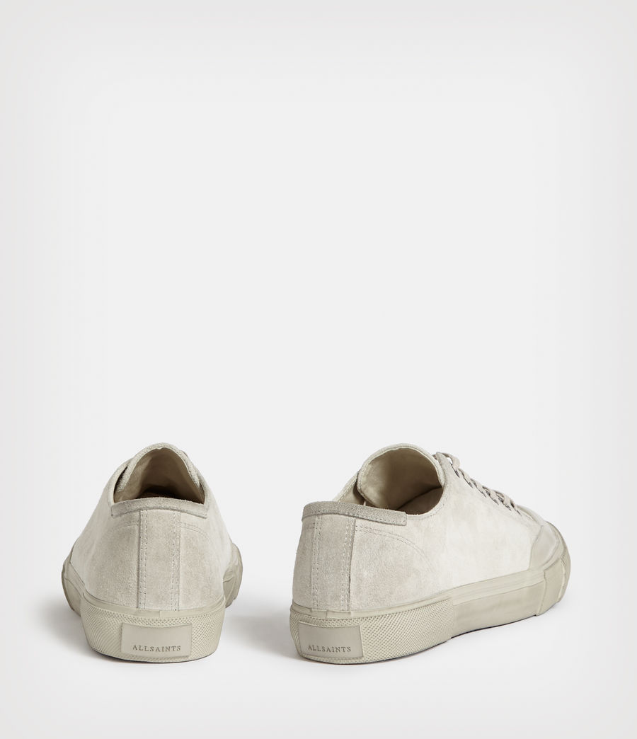 Mens Dumont Low Top Suede Sneakers (chalk_white) - Image 5