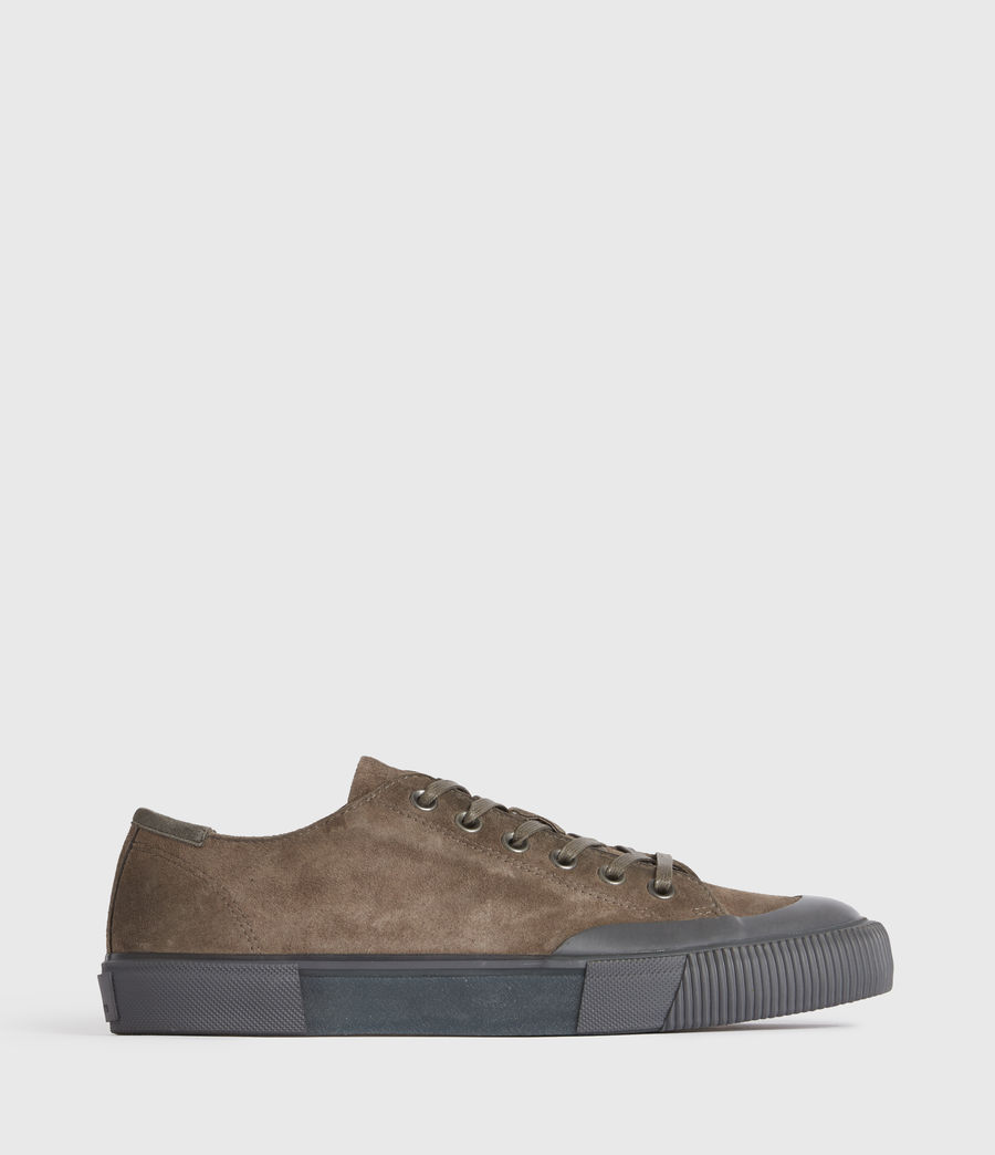 Men's Dumont Low Top Suede Trainers (taupe) - Image 1