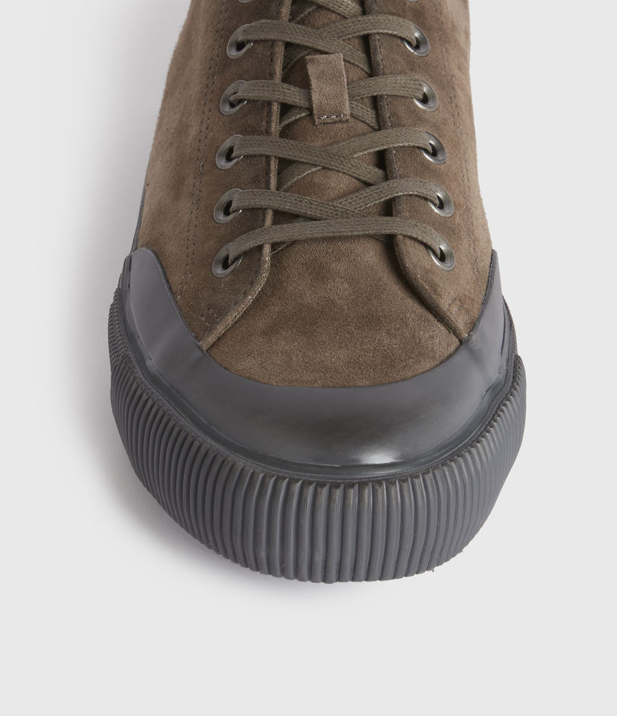 Men's Dumont Low Top Suede Trainers (taupe) - Image 2
