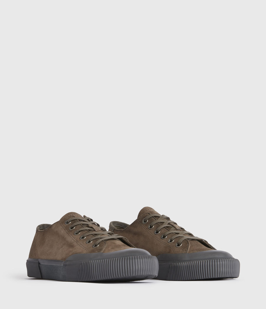 Men's Dumont Low Top Suede Trainers (taupe) - Image 3