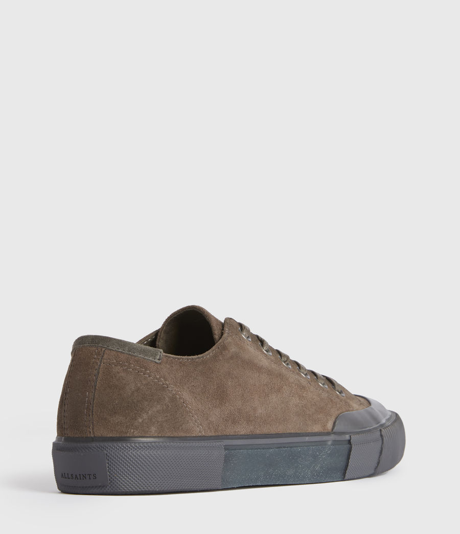 Men's Dumont Low Top Suede Trainers (taupe) - Image 4