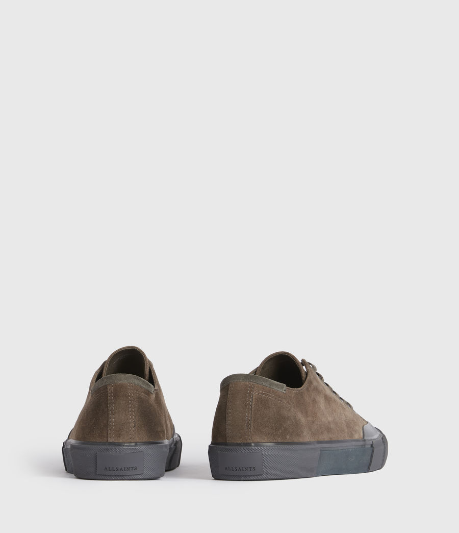 Men's Dumont Low Top Suede Trainers (taupe) - Image 5