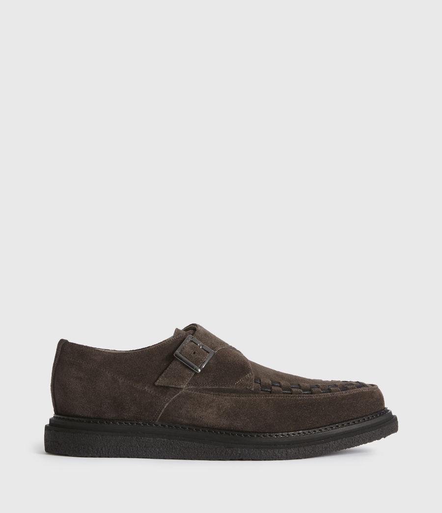Men's Graffin Monkstrap Suede Shoes (black) - Image 1