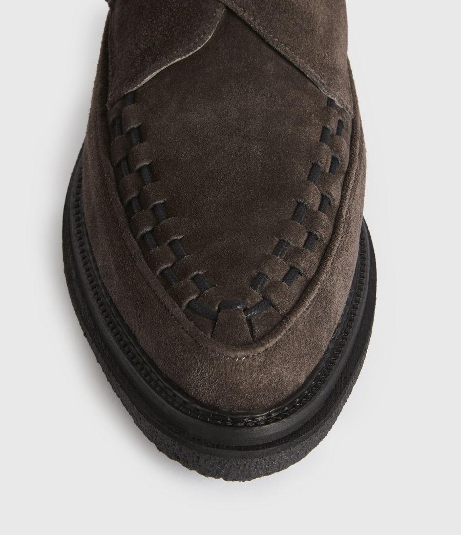 Men's Graffin Monkstrap Suede Shoes (black) - Image 2