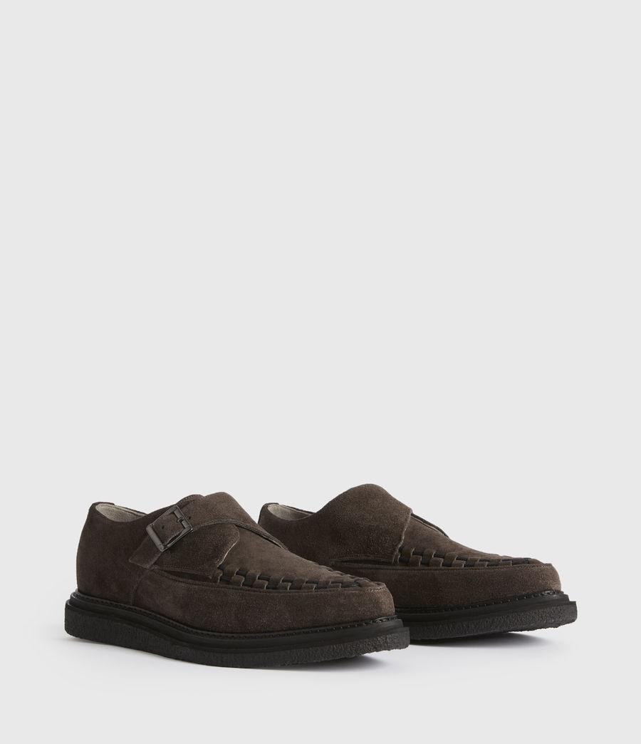Men's Graffin Monkstrap Suede Shoes (black) - Image 3
