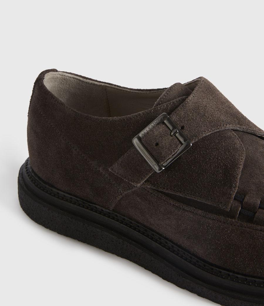 Men's Graffin Monkstrap Suede Shoes (black) - Image 4