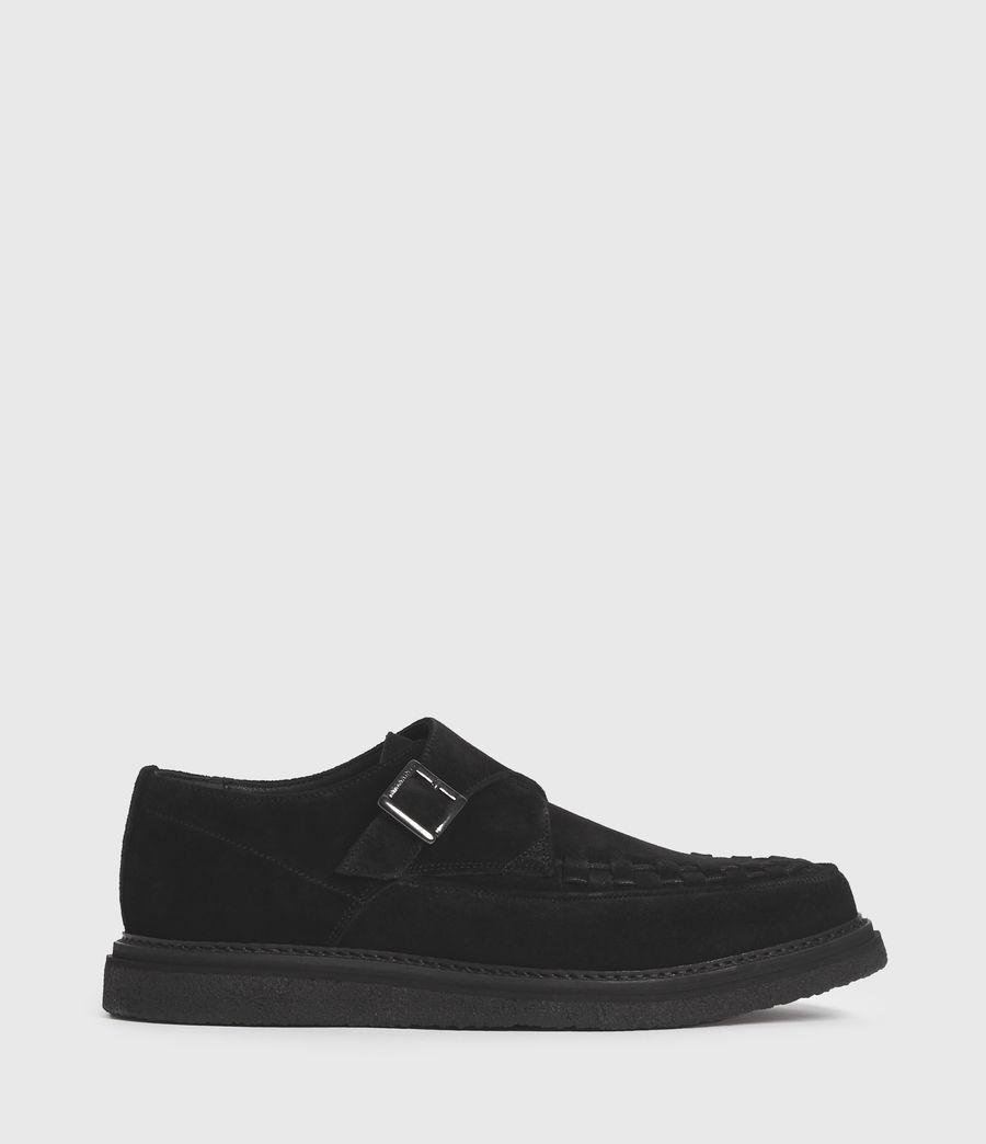 Hombre Zapatos de Ante con Hebilla y Suela de Goma Graffin (black) - Image 1