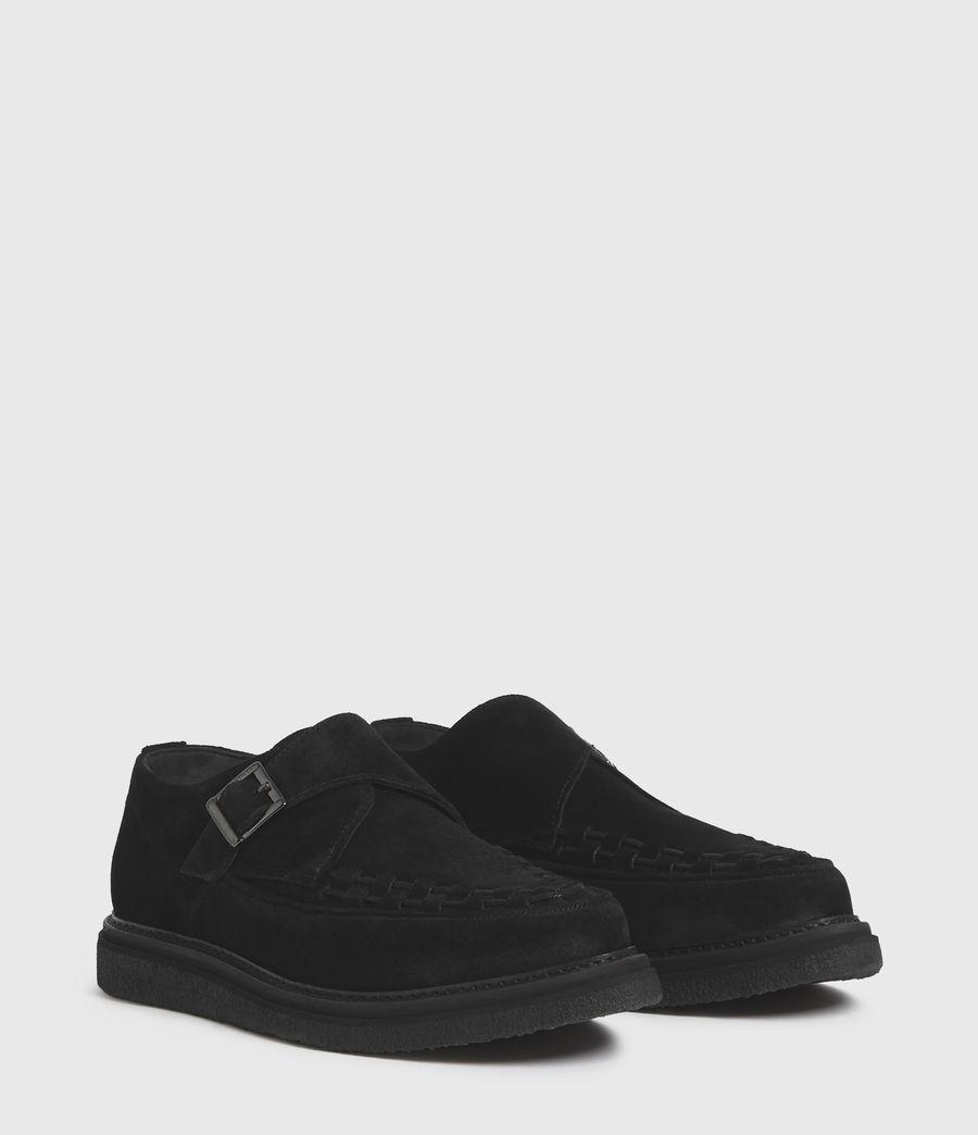 Hombre Zapatos de Ante con Hebilla y Suela de Goma Graffin (black) - Image 3