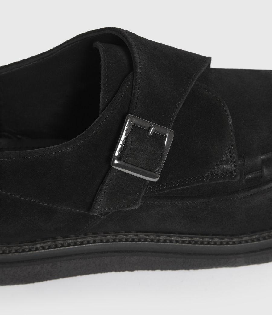 Hombre Zapatos de Ante con Hebilla y Suela de Goma Graffin (black) - Image 4