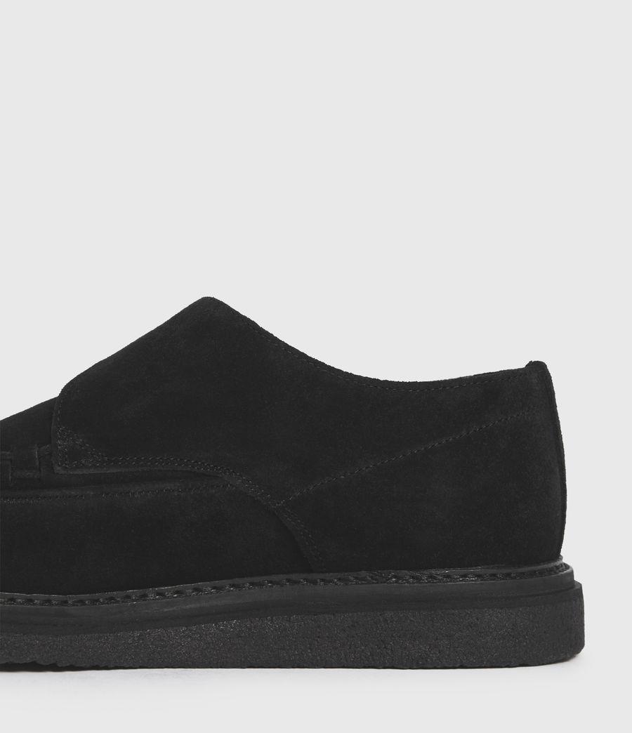 Men's Graffin Monkstrap Suede Shoes (black) - Image 5