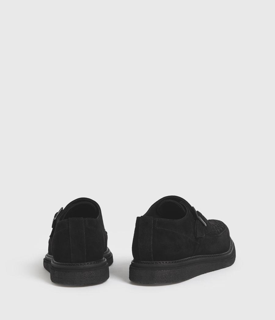 Men's Graffin Monkstrap Suede Shoes (black) - Image 6
