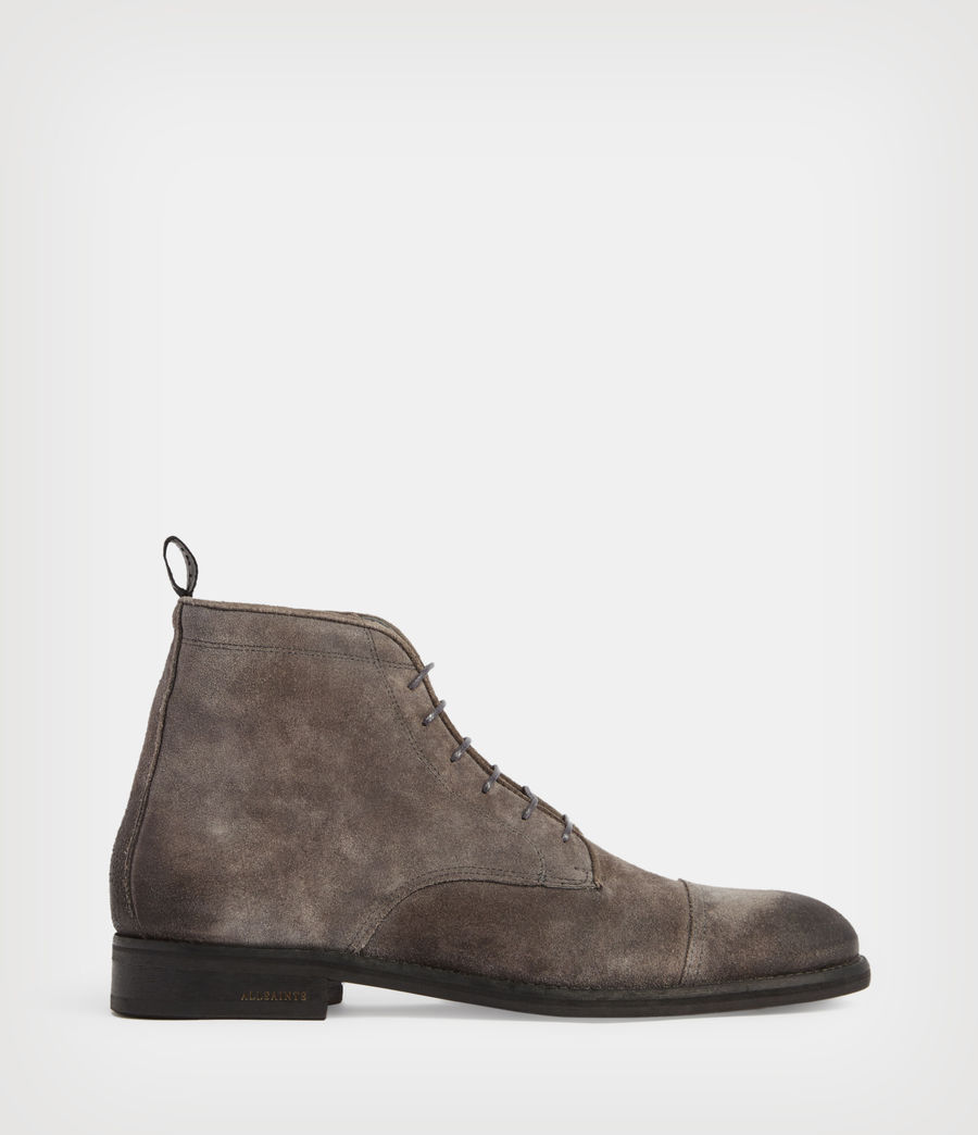 Mens Harland Suede Boots (charcoal_grey) - Image 1