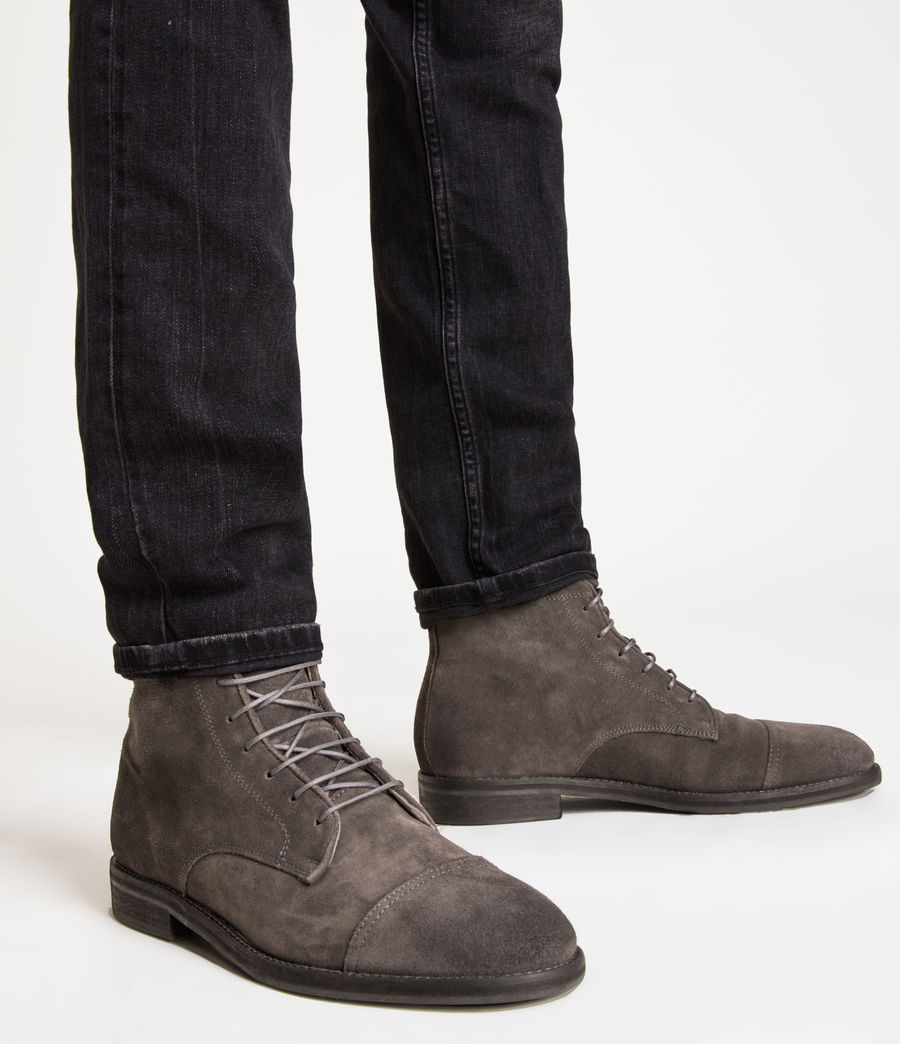 Mens Harland Suede Boots (charcoal_grey) - Image 2