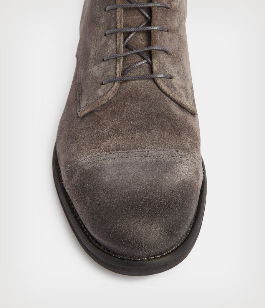 Mens Harland Suede Boots (charcoal_grey) - Image 3