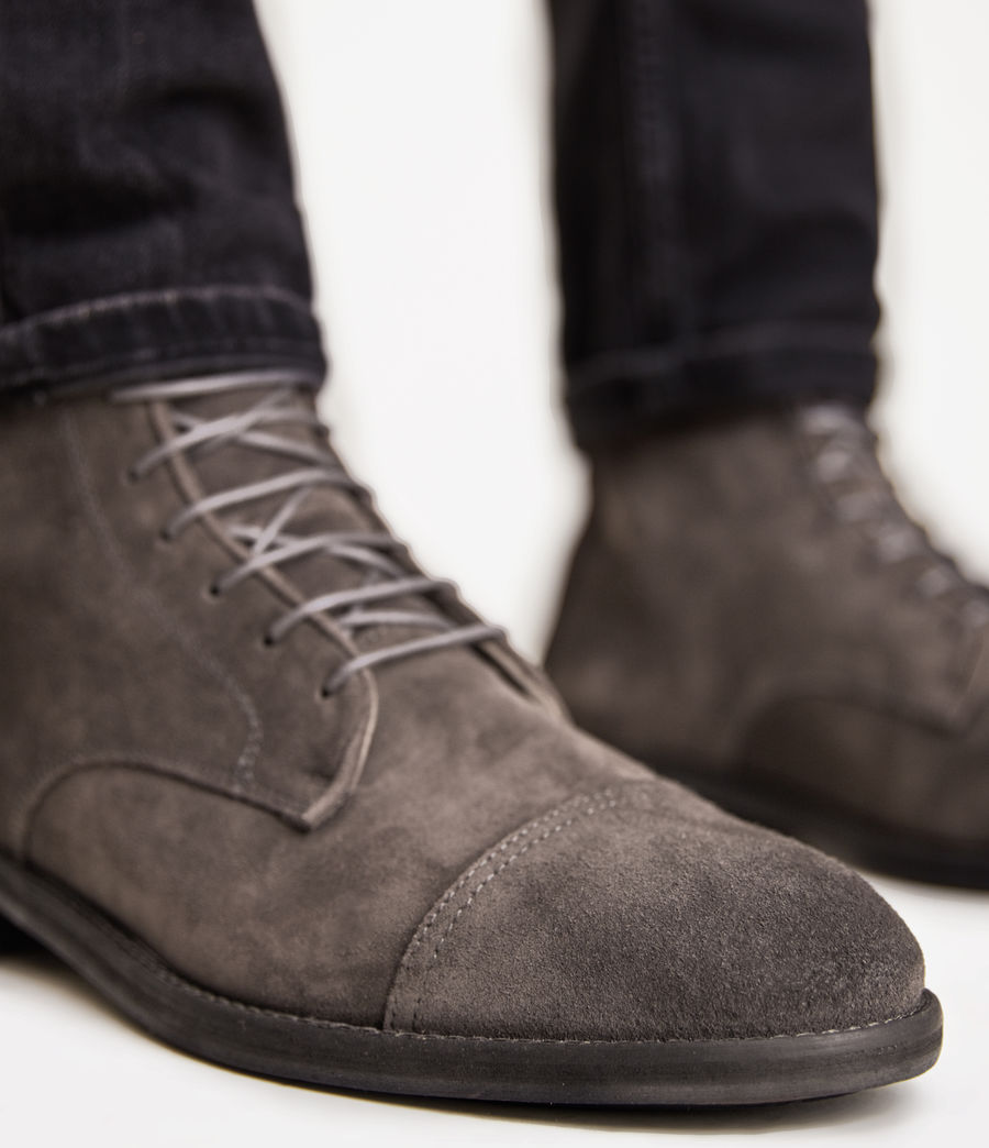 Mens Harland Suede Boots (charcoal_grey) - Image 4