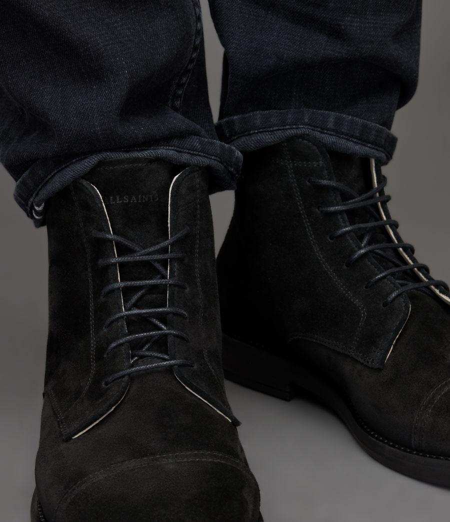 Men's Harland Suede Boots (black) - Image 4