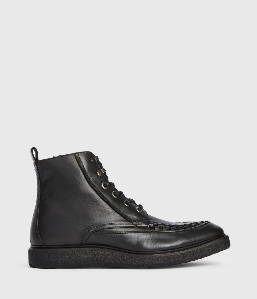 Mens Arden Leather Boots (black) - Image 1