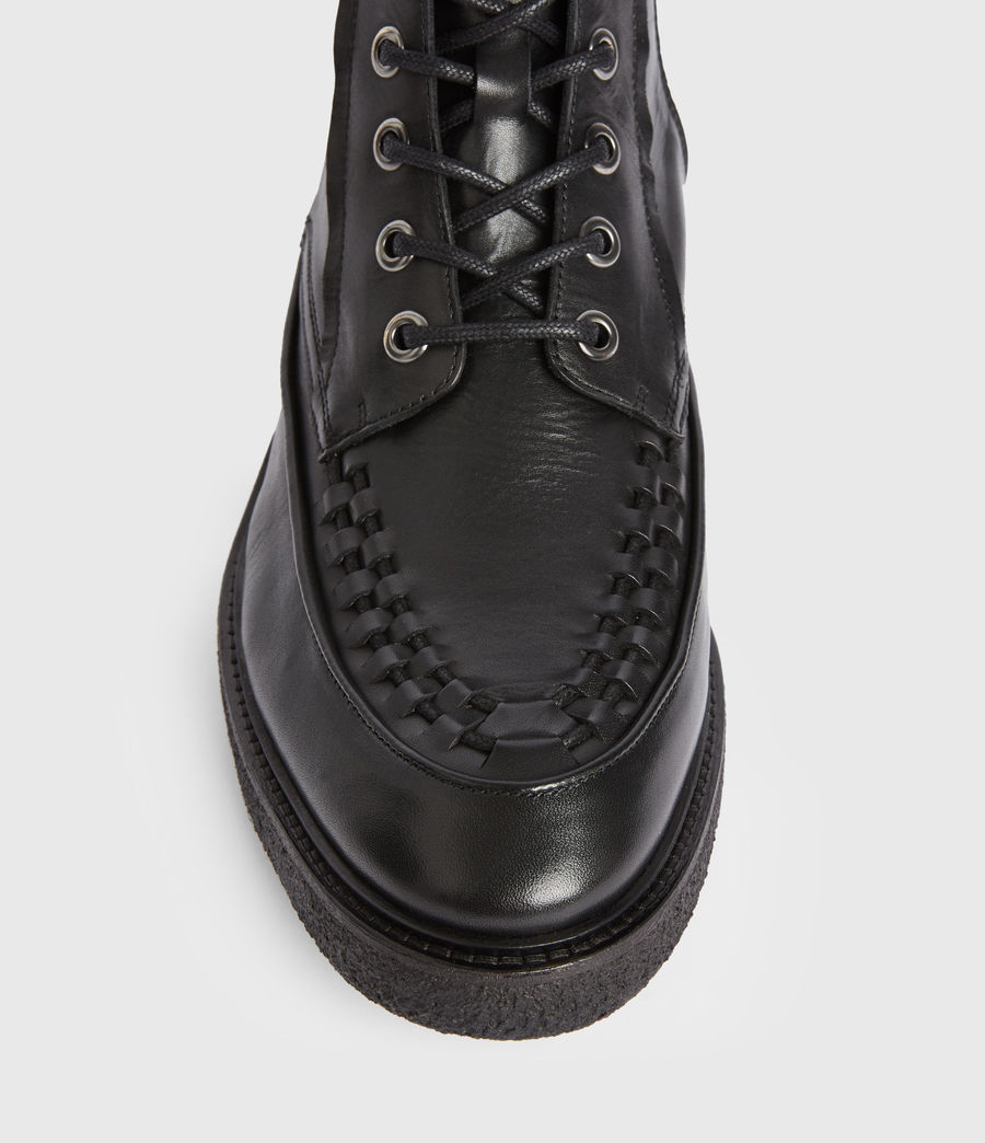 Mens Arden Leather Boots (black) - Image 2