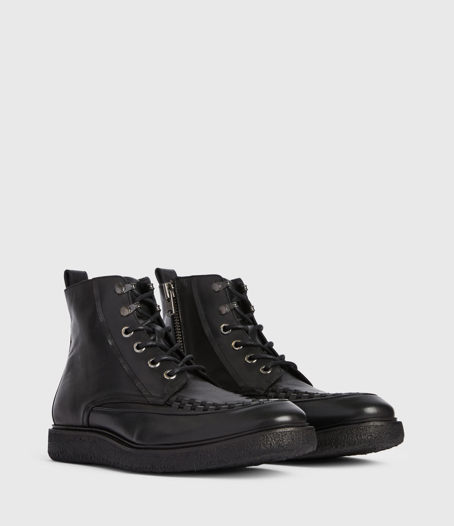 Mens Arden Leather Boots (black) - Image 3