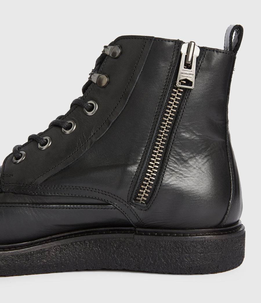Mens Arden Leather Boots (black) - Image 4