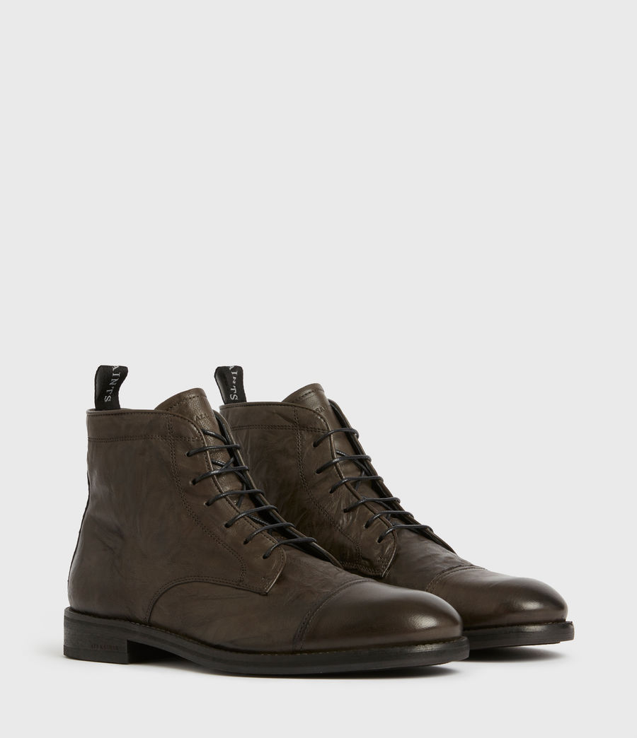 Mens Harland Leather Boots (charcoal_grey) - Image 3