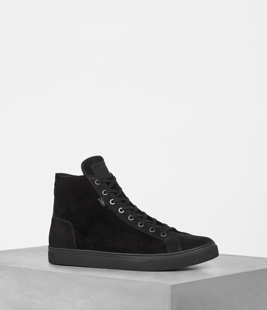 AllSaints Suede High-Top Sneakers clearance discount udjJJeEzH