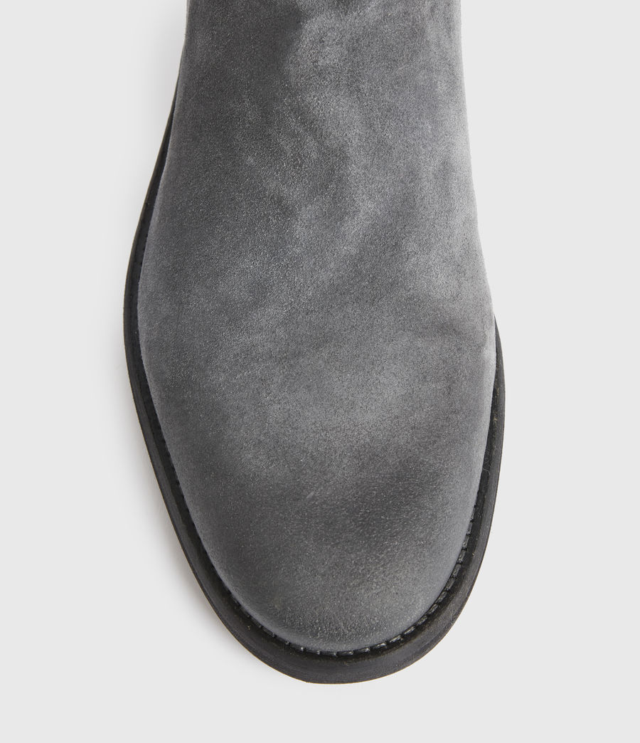 Men's Harley Suede Boots (charcoal_grey) - Image 4