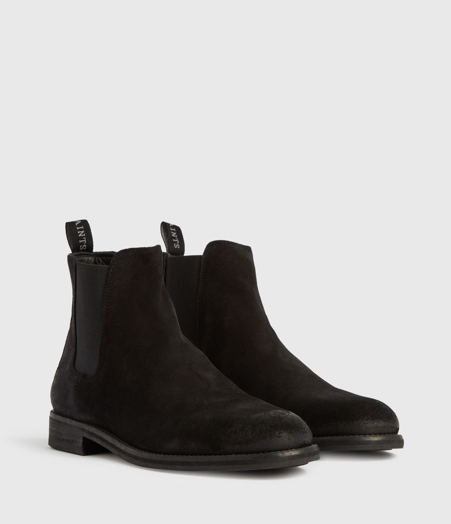 Mens Harley Suede Boots (black) - Image 3