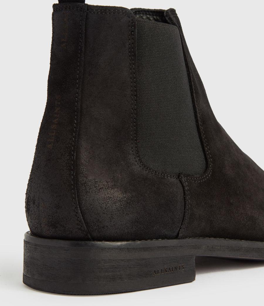 Mens Harley Suede Boots (black) - Image 4